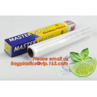 Eco friendly non toxical soft pe pvc food cling wrap on sale, clear food film food grade PE plastic wrap Manufactures
