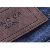 Logo Printable Embossed Leather Patches With  Leather Clothing Labels Manufactures