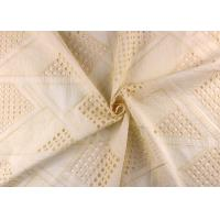 Allover Embroidered Eyelet Cotton Lace Fabric For Wedding Dresses With Hollowed Circle Manufactures