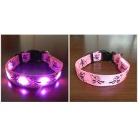 LED Flash Pet Collars with hollowed dog pattern Manufactures