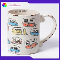 Hand painted cartoon car ceramic mugs old effect Can be customized coffee mug Manufactures
