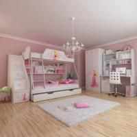 E0 Grade Bunk Bed/Kids' Bedroom Set/Children's Furniture/Wooden Bedroom, Princess, Disney, Chair Manufactures