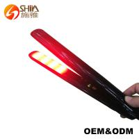 China Floating plate infrared Ultrasonic cold hair straightener flat iron on sale