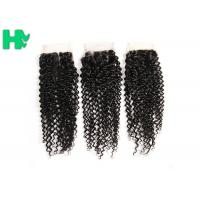 8'' - 20''Unprocessed Human Hair Closure Kinky Curly Bleached Knots Manufactures