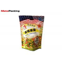 China Heat Sealing Stand Up Barrier Pouches 350g Mixed Vegetable Food Packaging on sale