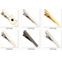 Casting Custom Logo Tie Clip , Vintage Tie Clips With Electroplating Surface Manufactures