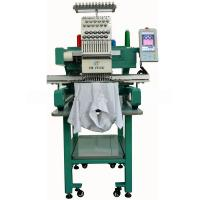 Single Head 12 Needles Cap / T-shirt Embroidery Machine , Servo Motor Manufactures