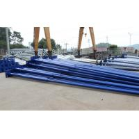 Blue Painted Surface Outside Street Light Poles 85um Galvanized Thickness Manufactures