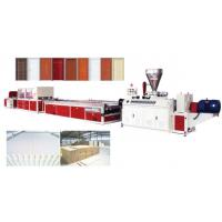China PLC Control Water Resistant Pvc Door Making Machine on sale