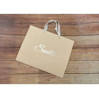 Light Strong Kraft Paper Packaging Bags Customized Size Design Eco Friendly Manufactures