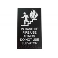 ICOF Stair ADA Elevator Signs 2 Clear Braille 1/8 Acrylic Panel Material Durable Manufactures