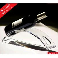 Crystal Clear Acrylic Wine Bottle Holder Display For Wine Shop Manufactures