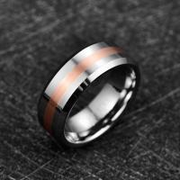2019 Nuncad 8mm Width Men's Ring Wedding Band Engagement Ring Middle Brushed Electric Rose Gold Polished Tungsten Manufactures