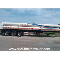 China Gas Long Tube CNG Tank Trailer 10T BPW axle With Walking structure on sale