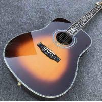 China Real Abalone inlays Sunburst Solid spruce top 41 inch D style Acoustic Guitar with ebony fingerboard on sale