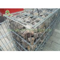 2X1X0.5m Wire Gabion Basket Stone / Wire Cages For Rock Retaining Walls Manufactures