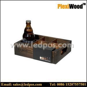 St Stefanus Wooden Beer Bottle Serving Caddy