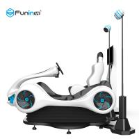 China 220V 0.7KW 9D VR Simulator With LED Lights / Motorcycle Racing Simulator on sale