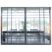 Metal Room Dividers With Glass, Modern Heavy Duty Sliding Door For Wardrobe, Office Manufactures