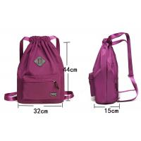 Eco Friendly Sport Nylon Drawstring Backpack Custom Cinch Bags Silk Screen Printing Manufactures