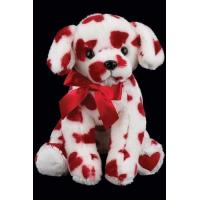 25cm Valentines Day Soft Dog With Red Heart  Stuffed Push Toys For Gifts Manufactures