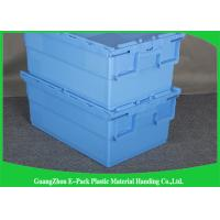 Foldable Large Distribution Plastic Attached Lid Containers Environmental Protection Blue Manufactures