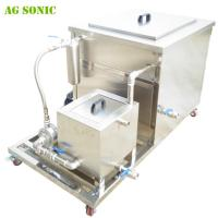 China 28khz Industrial Ultrasonic Cleaner for Car Fuel Tanks , Car Injectors , Carburator with Oil Skim on sale