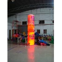5m Customized Color Advertising Helium Balloons Inflatable Pillar With Light For Party Manufactures