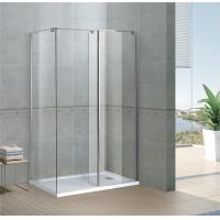 Rectangle Walk In Shower Enclosures 6 / 8 MM Clear Tempered Fixed Glass CE / SGCC Certification Manufactures