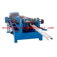 High Frequency PLC CZ Purlin Roll Forming Machine With Gear Box Transmission Manufactures