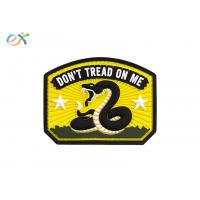 China Logo Design 2D 3D Rubber Patch , Waterproof  Snack Custom PVC Patches on sale