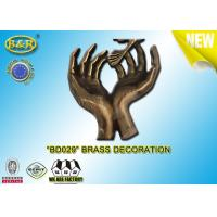 No . BD029 Brass Hands Tombstone Decoration Bronze Funeral Accessories Size 17.5×10 Cm Copper Alloy Manufactures
