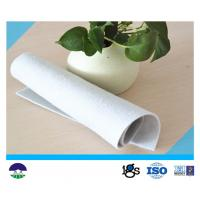 China Needle Punched Non Woven Geotextile Fabric For River Bank Protection 377GSM on sale