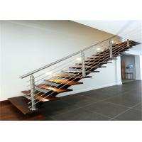 DIY Installation Ss Railing System With Brushed Stainless Steel Stair Handrail Manufactures