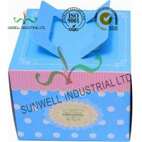 Full CMYK Printing Cardboard Food Storage Boxes Glossy / Matte Finish Blue Color Manufactures