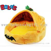 China Specially Design Plush Stuffed Pumpkin With Bats Pet Bed As Hallowmas Gift for dog cat on sale