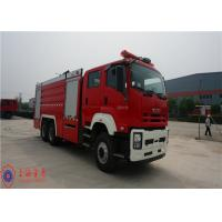 6x4 Drive Foam Commercial Fire Trucks With YTQ 590K Sandwich Type PTO Manufactures