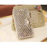 Luxury Bling Diamond Bowknot Leather Mobile Phone Cases For Samsung Galaxy S2 Manufactures