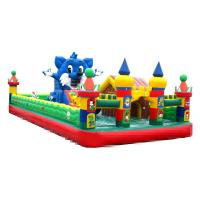 10-15 Children Play Inflatable Jumpers 0.55mm Tarpaulin Sewing Castle Bounce House Manufactures