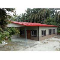 Luxury Steel Structure Homes / Prefabricated Steel Frame Homes Labor Saving Manufactures