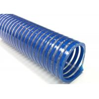 China Spiral Reinforced PVC Suction Hose / Water Pump Pool Discharge Hose For Industry on sale