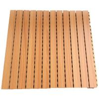 Sound Absorption Grooved Acoustic Panel Conference Room Wooden Wall Panels Manufactures