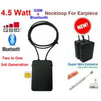 Best  model high quality  4.5 W  Spy GSM Box neckloop  black Megntic mini micro Invisible Spy Exam Iner earpiece china Manufactures