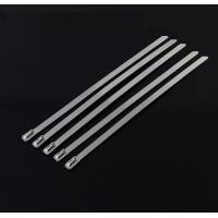 10 Mm Releasable Stainless Steel Cable Ties For Recycling Use , High Temp Resistance Manufactures