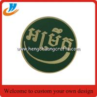 China Enamel lapel pin badge with gold plated,metal button badge pin wholesale on sale