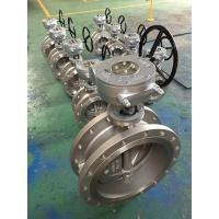 Flanged type three offset Butterfly valve,API 609 Triple Offset Double Flanged Metal Seated Butterfly Manufactures