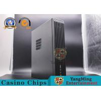 China Black Metal Baccarat Gambling Systems Mini Desktop Computer Host With Chassis Plus Power Supply Set on sale