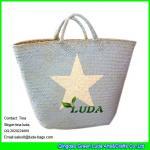 LUDA imitated palm leaf beach straw bags wholesale Seagrass Straw handbag Manufactures