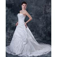 Customized Thick White Strapless Wedding Gowns for Spring , Summer , Fall , winter Manufactures
