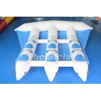 Blue Inflatable Banana Boat Towable Inflatable Flying Fish Tube For Sea Manufactures